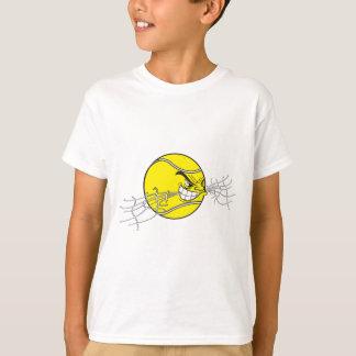 aggressive tennis ball biting net graphic T-Shirt