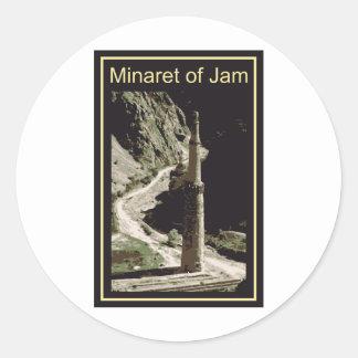 Aghanistan Minaret Of Jam Round Sticker