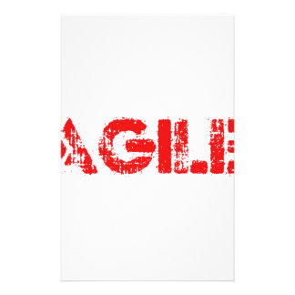 Agile agenda customised stationery