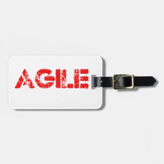Agile agenda luggage tag