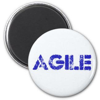 Agile BLUE 6 Cm Round Magnet