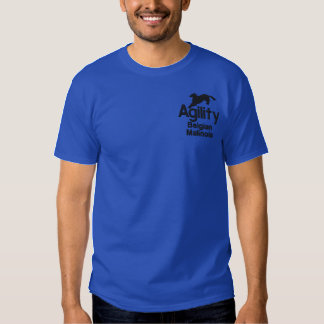 Agility Belgian Malinois Embroidered T-Shirt