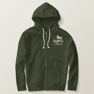 Agility Chihuahua Embroidered Hoodie