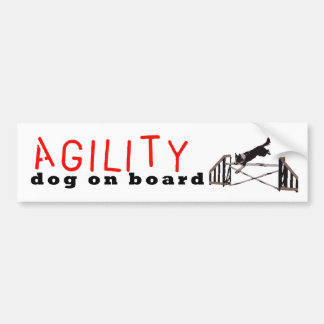 Agility dog on board -Jumps Bumper Sticker