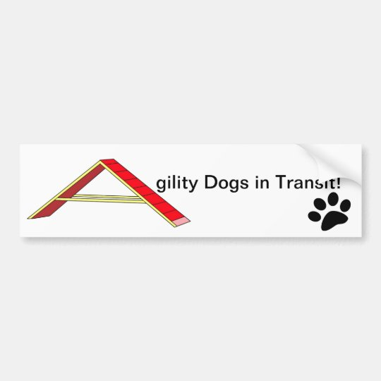 Agility Dogs in Transit Bumper Sticker