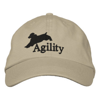 Agility English Springer Spaniel Embroidered Baseball Cap
