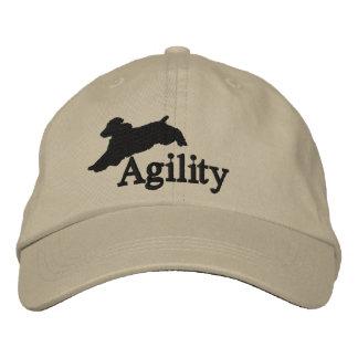 Agility English Springer Spaniel Embroidered Baseball Cap