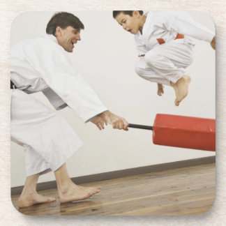 Agility exercise in karate class coaster