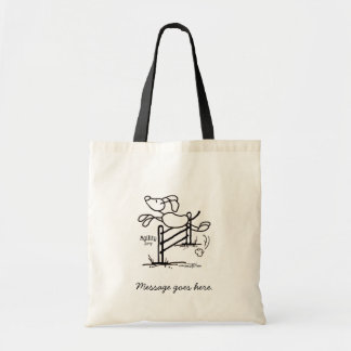 Agility Jump - Stick Dog Budget Tote Bag