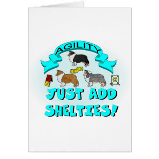 Agility - Just Add Shelties Card