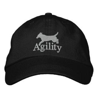 Agility Labrador Retriever Embroidered Hat (Silver