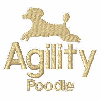 Agility Poodle Embroidered T-Shirt