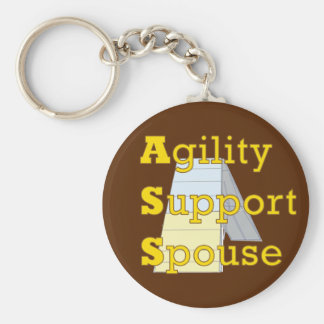 Agility Support Spouse 1 Basic Round Button Key Ring