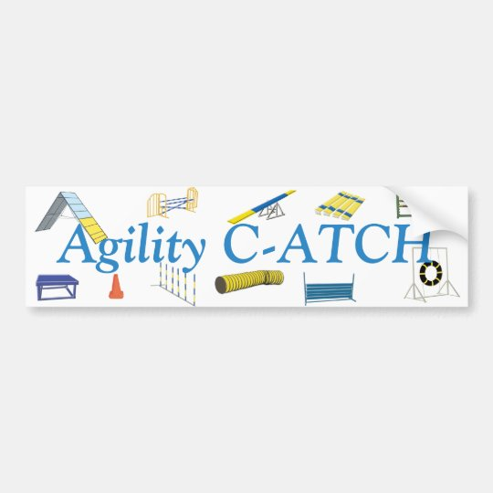 Agility Titles Bumper Sticker