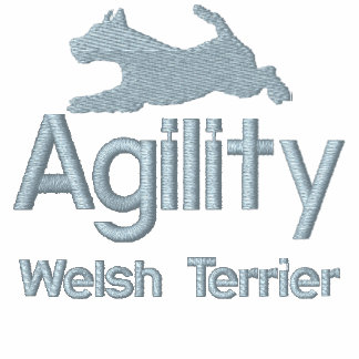 Agility Welsh Terrier Embroidered Hoodie