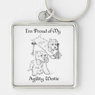 Agility Westie Key Ring