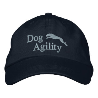 Agility Whippet Embroidered Hat Blue