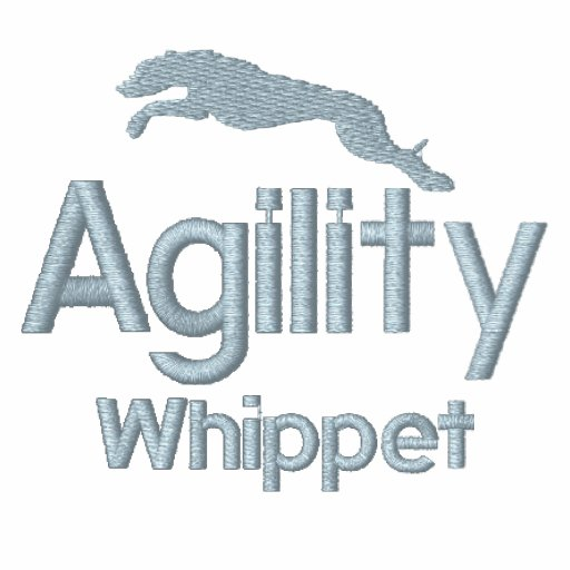 Agility Whippet Embroidered Hooded Sweatshirt