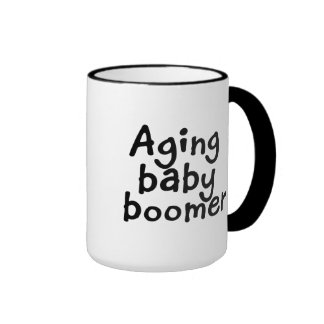 Aging baby boomer ringer mug