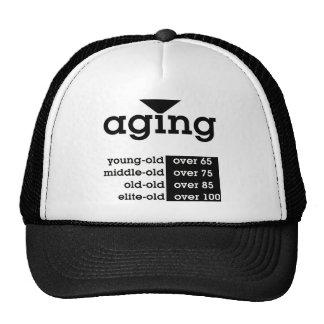 aging mesh hat