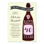 Aging Like Fine Wine | Birthday Party 13 Cm X 18 Cm Invitation Card
