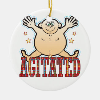 Agitated Fat Man Be Christmas Ornament