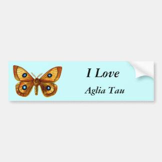 Aglia Tau Butterfly Bumper Sticker