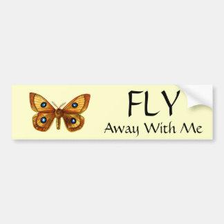 Aglia Tau Butterfly Car Bumper Sticker