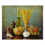 aglio, olio e peperoncino (garlic, oil and chilli) poster