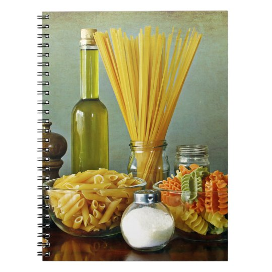 aglio, olio e peperoncino (garlic, oil and chilli) spiral notebook