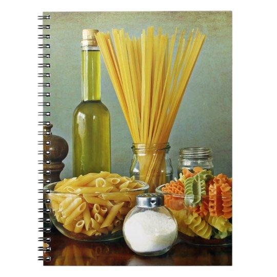 aglio, olio e peperoncino (garlic, oil and chilli) spiral notebook