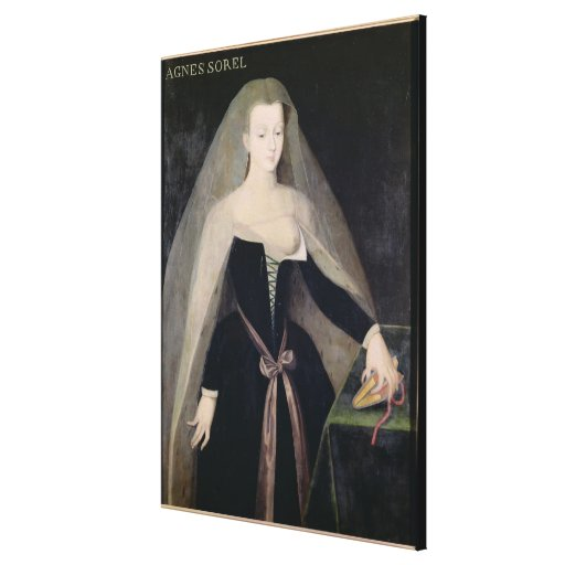 Agnes Sorel  Favourite of Charles VII Stretched Canvas Prints