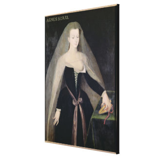 Agnes Sorel  Favourite of Charles VII Gallery Wrap Canvas