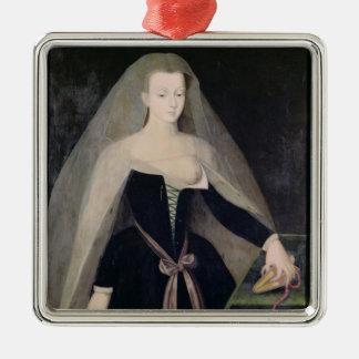 Agnes Sorel  Favourite of Charles VII Silver-Colored Square Decoration