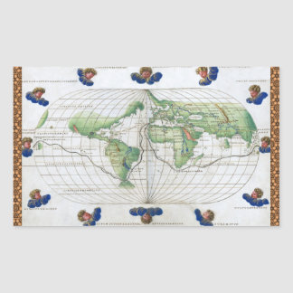 Agnese World Chart Rectangle Stickers