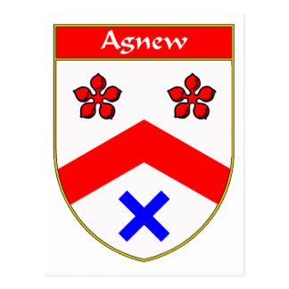 Agnew Coat of Arms/Family Crest Postcard