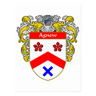 Agnew Coat of Arms (Mantled) Postcard
