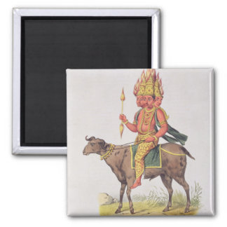 Agni, God of Fire, engraved by Charles Etienne Pie Magnet