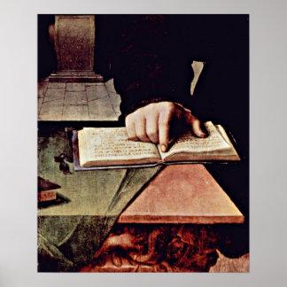 Agnolo di Cosimo - Hand in the open book Print