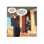 Agnostic Missionaries Funny Postcard
