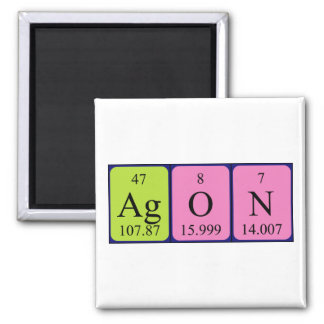 Agon periodic table name magnet