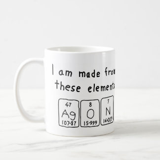 Agon periodic table name mug