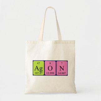 Agon periodic table name tote bag