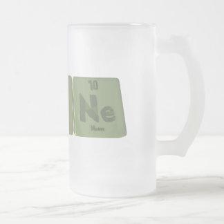 Agone-Ag-O-Ne-Silver-Oxygen-Neon Frosted Glass Mug