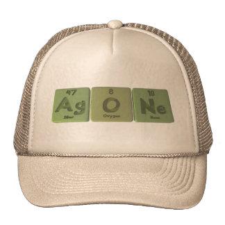 Agone-Ag-O-Ne-Silver-Oxygen-Neon Mesh Hat