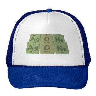 Agone-Ag-O-Ne-Silver-Oxygen-Neon Trucker Hat