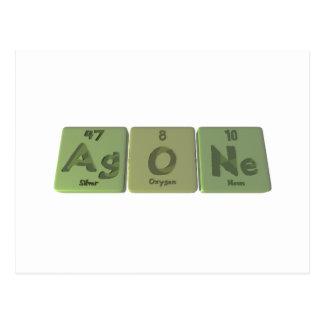 Agone-Ag-O-Ne-Silver-Oxygen-Neon Postcard