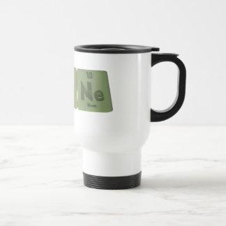 Agone-Ag-O-Ne-Silver-Oxygen-Neon Stainless Steel Travel Mug