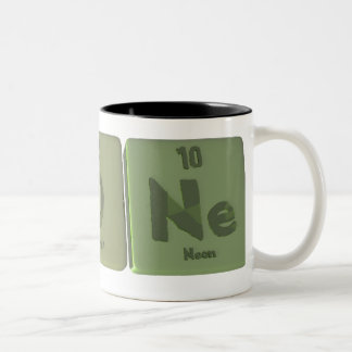 Agone-Ag-O-Ne-Silver-Oxygen-Neon Two-Tone Mug