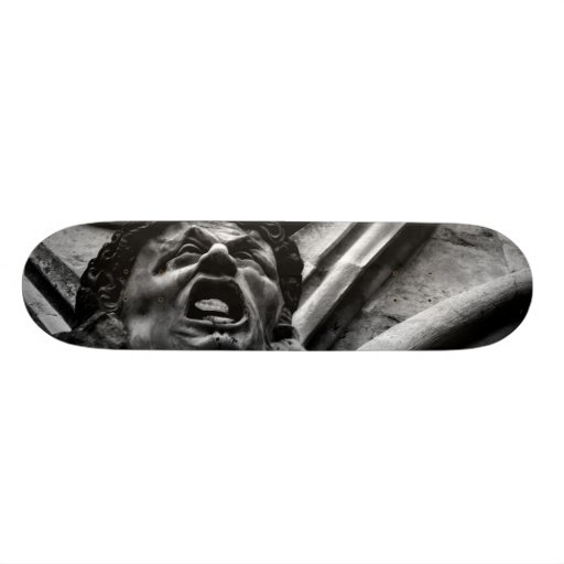 Agony of the Biting Imps Gothic Gargoyle Custom Skateboard
